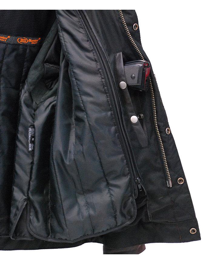 Daniel Smart Men's Vintage Brown Vented Jean Jacket w/Hood #MA782VZHGN