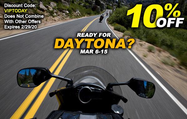 Save 10% Now Before Daytona Starts!