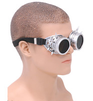 Steampunk Antiqued Silver Spiked Welder Sunglasses #SGG6876SPS