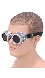 Steampunk Antiqued Silver Welder Sunglasses #SGG68741S