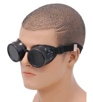 Steampunk Antiqued Black Welder Sunglasses #SGG68742K