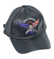 Armed & Prepared Leather Baseball Cap #H44ARMED