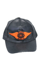 Jesus Is The Way Wings Leather Baseball Cap #H44JESUS
