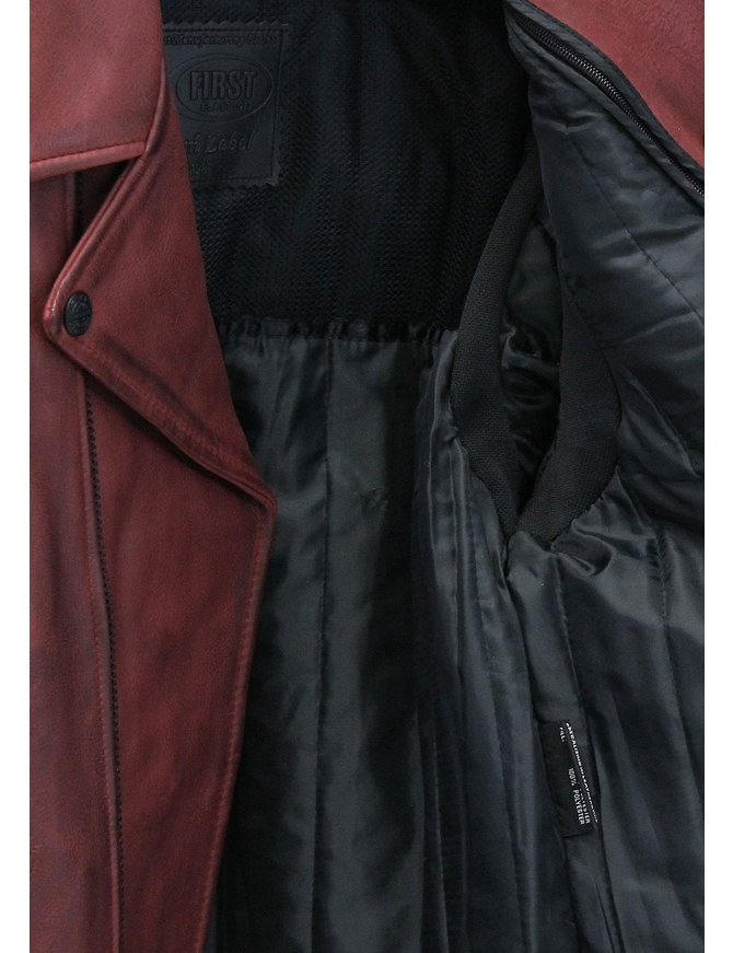 First MFG Men's Oxblood Vented CCW Motorcycle Jacket #MA269GVZR