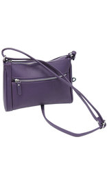 Purple Cowhide Leather Zipper Purse #P5194PUR