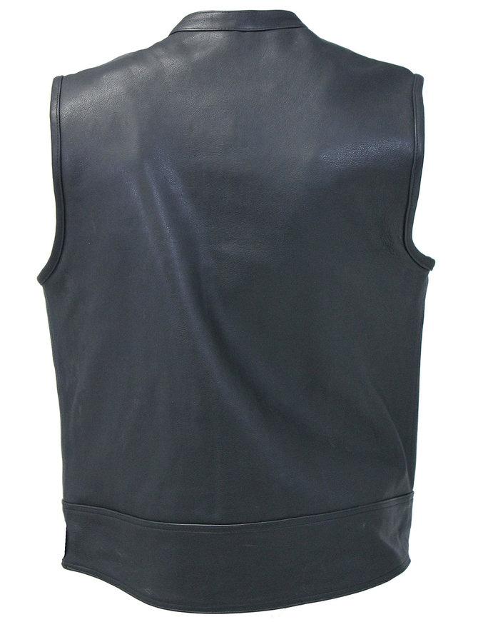 Unik Men's 14 Pocket Leather CCW Club Vest #VMC6460GZK