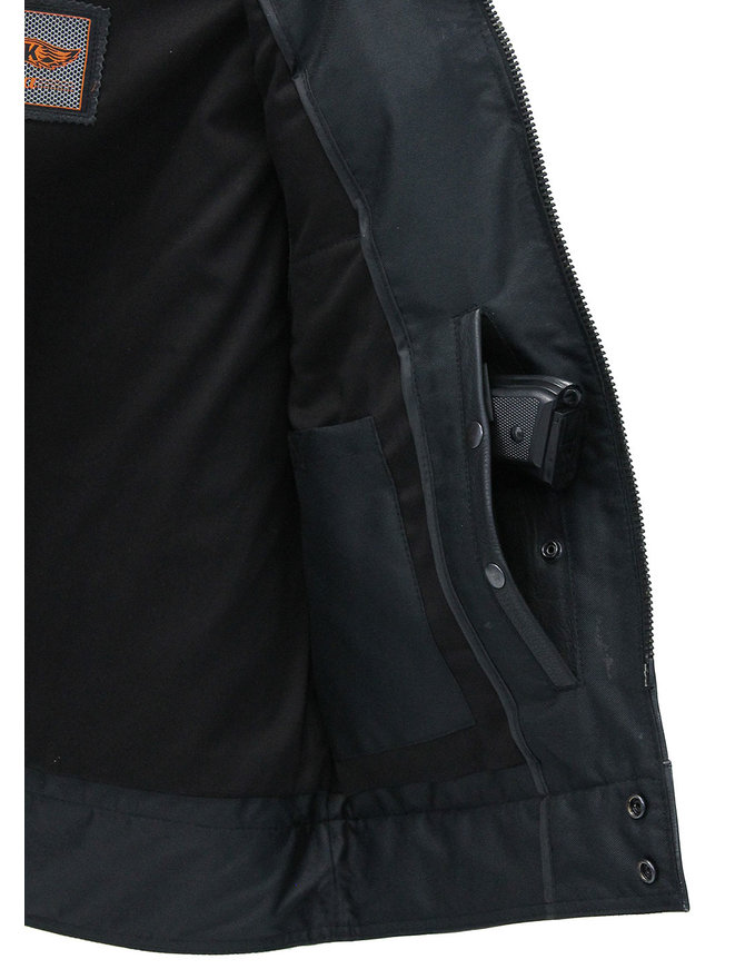 Unik Men's 14 Pocket Leather CCW Club Vest #VMC6460GZK