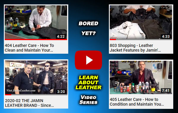 Leather Info Videos + 20% Off Stimulus Package!