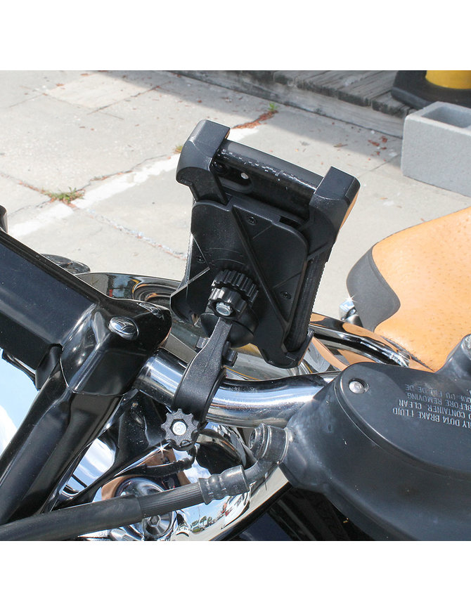 Jamin Leather Large Motorcycle Cell Phone Mount #AC0366CELL