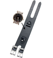 Jamin Leather Black Heavy Leather Watchband #WB2003K
