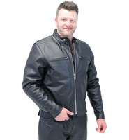 Jamin Leather Rebel Rider Cafe Racer Leather Motorcycle Jacket #M11025