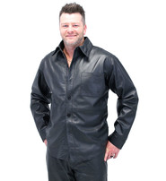 Jamin Leather Men's Lambskin Leather Shirt - Button Down Leather Dress Shirt #MS2162