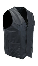 Jamin Leather Men's Western Ultra Soft Lambskin Leather Vest #VML01