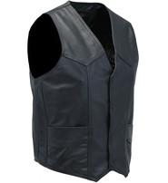 Jamin Leather Men's Western Ultra Soft Lambskin Leather Vest #VML01