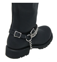 Jamin Leather Double Heavy Chain Leather Boot Straps #BS21XK