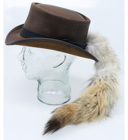 Jamin Leather USA Fox Tail Brown Leather Top Hat #H566NTAIL