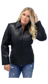 Classic Soft Cowhide Womens Leather Coat #L220K (S-XL)