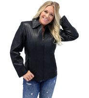 Classic Soft Cowhide Women's Leather Coat #L220K
