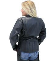 Vented Eagle Leather Jacket for Women #L356VZ