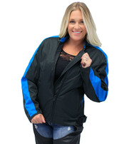 Teal Heart Embroidered Textile Women's Jacket #LC3585HT