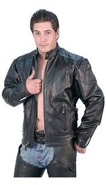 Boy's Vented Eagle Leather Jacket - Special #M304VZK (XXS-M)