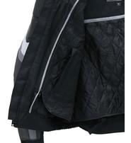 White Stripe Men's Leather/Nylon Vented Jacket w/Armor #MC340920KW