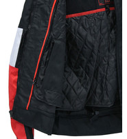 Red/White/Black Heavy Nylon Jacket w/Armor #MC342601R