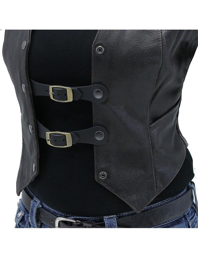 Jamin Leather Antique Brass Buckle Vest Extenders #VC20060GBU