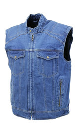 Quilt Lined Blue Denim Club Vest #VMC143U
