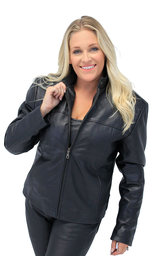Lambskin Leather Scooter Jacket for Women #L602K (S-L)