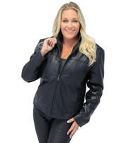 Lambskin Leather Scooter Jacket for Women #L602K