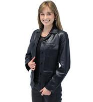 Lightweight Button-Up Lambskin 4 Pocket Safari Coat #L718024K