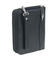 Black Leather Book Cover, Organizer and Gun Case #A7756GK