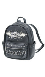 Skull and Wings Studded Small CCW Backpack #BP465SKW