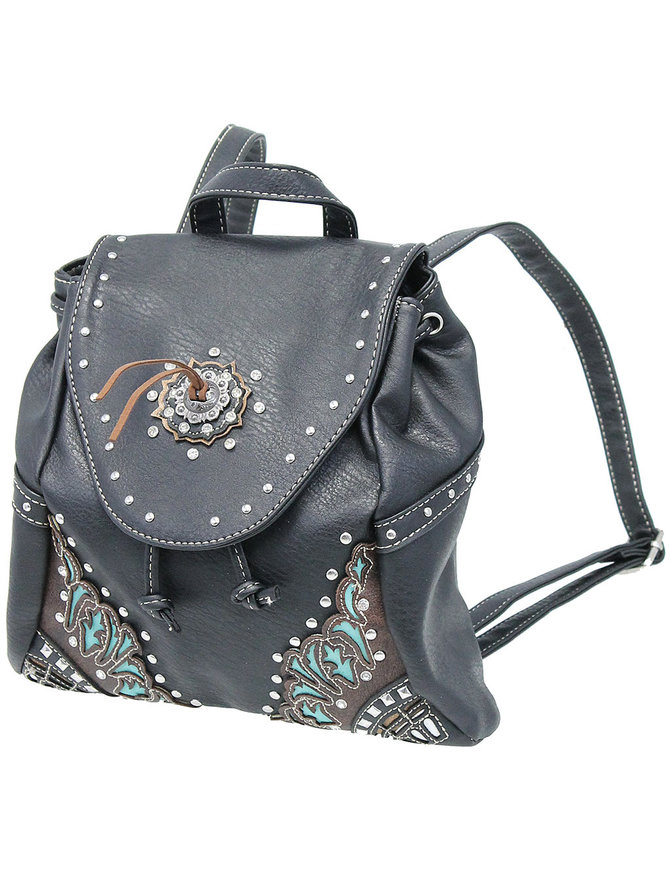 Studded Small CCW Backpack with Concho #BP45155C