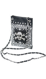 Small Crystal Skull Cross Body Purse with Chain Strap #P2030SKK