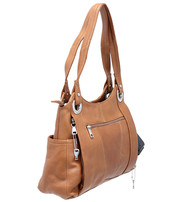 10x13 Light Brown Heavy Leather CCW Purse #P70081GN
