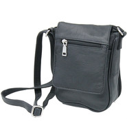 6x8 Black Small Heavy Leather CCW Purse with Magnetic Flap #P70180GK