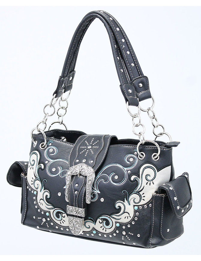 Western Buckle Two-Tone Multi-Ring CCW Purse #P939177WB