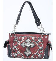 Crystal Cross Embroidered Multi-Ring CCW Purse #P939188CR