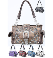 Western Buckle Embroidered Multi-Ring CCW Purse #P939188WB