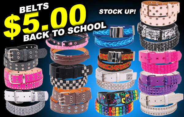 Stock Up on $5.00 Belts for Back to School