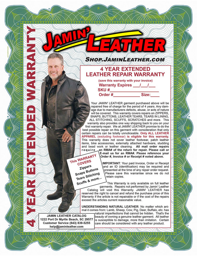 Extended Leather Repair Warranty #WARRANTY