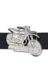 Chrome Motorcross Belt Buckle #BU100MOTO