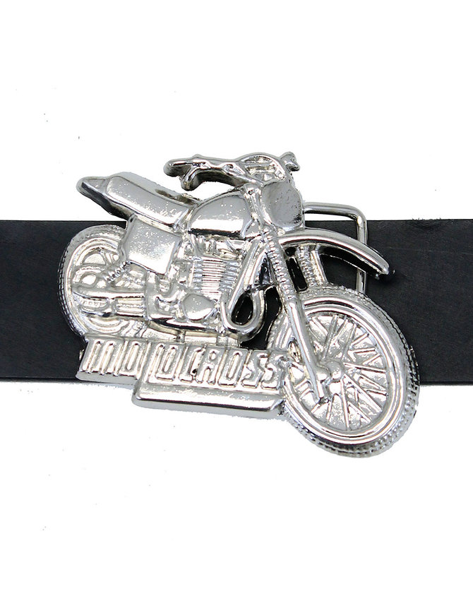 Chrome Motorcross Belt Buckle #BU100MOTO
