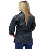 Jamin Leather Women's Leather Pullover Shirt with 3/4 Sleeve #LSS854K