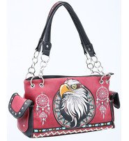 Eagle Head Embroidered Multi-Ring CCW Purse #P939221EH