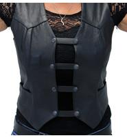Jamin Leather Black Leather Vest Extenders - Set of 4