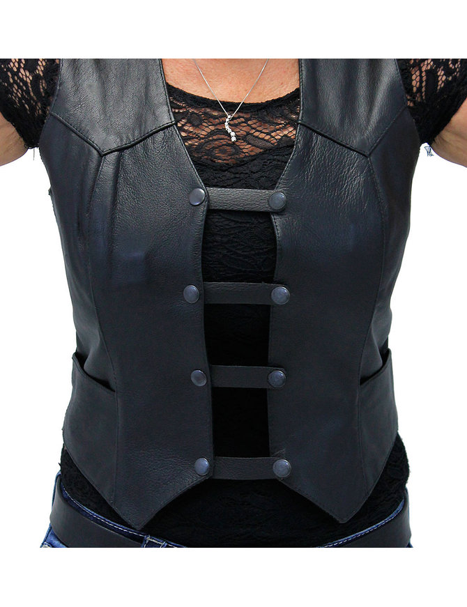 Jamin Leather Black Leather Vest Extenders - Set of 4 - VC20250K
