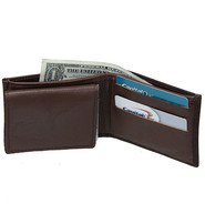 Extra Durable Vintage Brown Leather Wallet with ID Case #WBA30846N